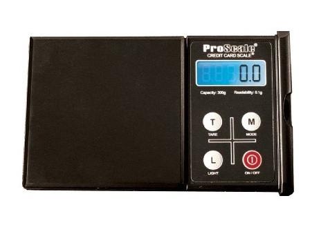 Lommevægt ProScale Credit Card Scale CC-300. Kapacitet: 300 g Præcision: 0,1 g