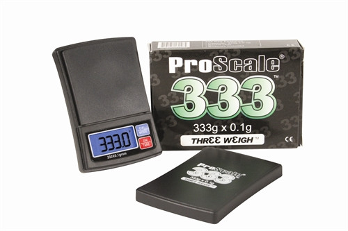 Lommevægt ProScale 333 'Three-Weigh' (333 x 0.1 gr.) (Vejeplade 55 x 55 mm)