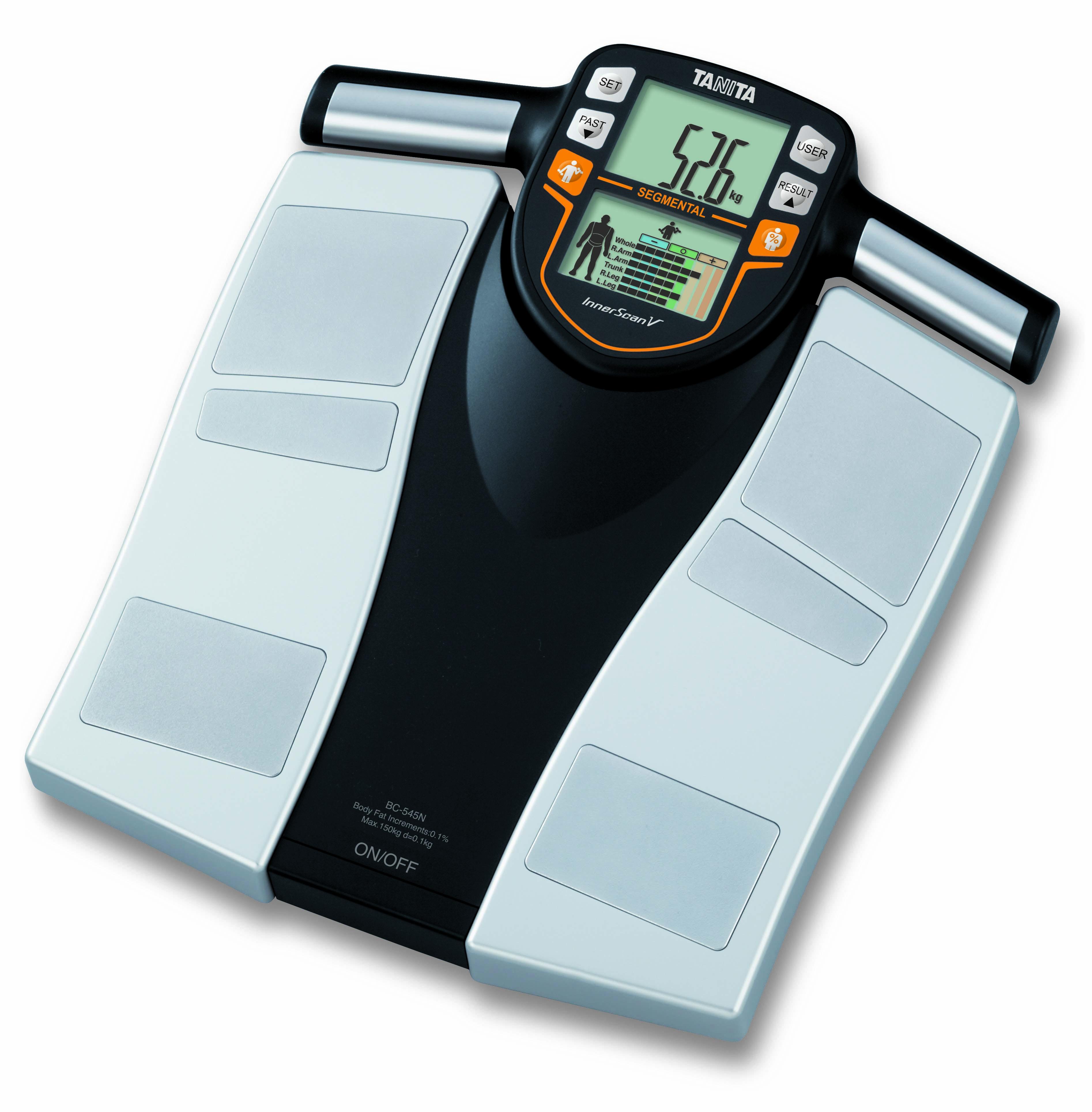 Kropsanalysevægt Tanita BC 545N Kapacitet 150 kg.