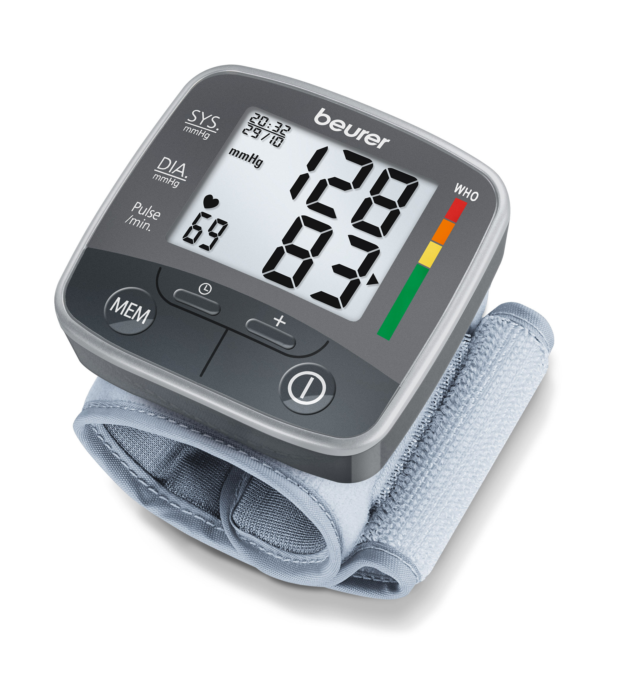 BC32 Blodtryksmåler til håndled, WHO indikator