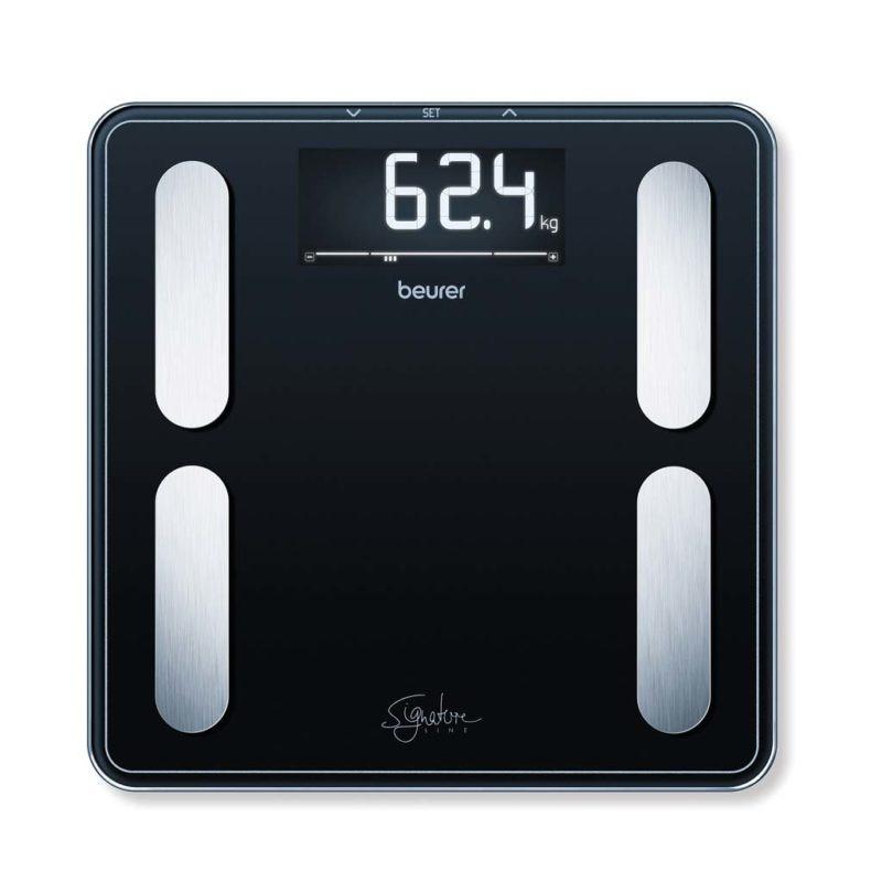 Kropsanalysevægt. Beurer BF400S SignatureLine. Badevægt. Sort (200 kg.x100 gr.)