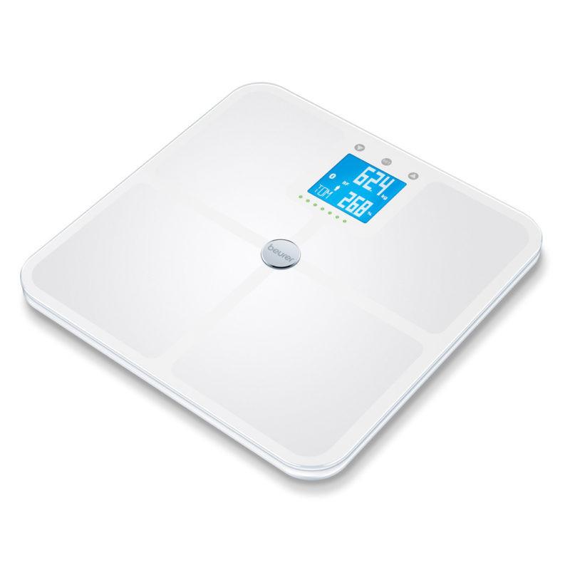 Kropsanalysevægt med Bluetooth Beurer BF950H. Hvid (180 kg.x100 gr.)