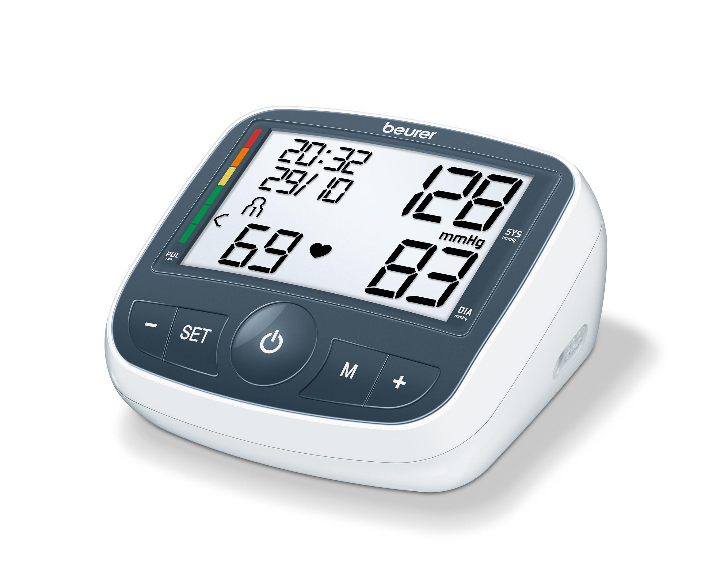 BM40 Blodtryksmåler overarm, XL display 2 x 60 målinger