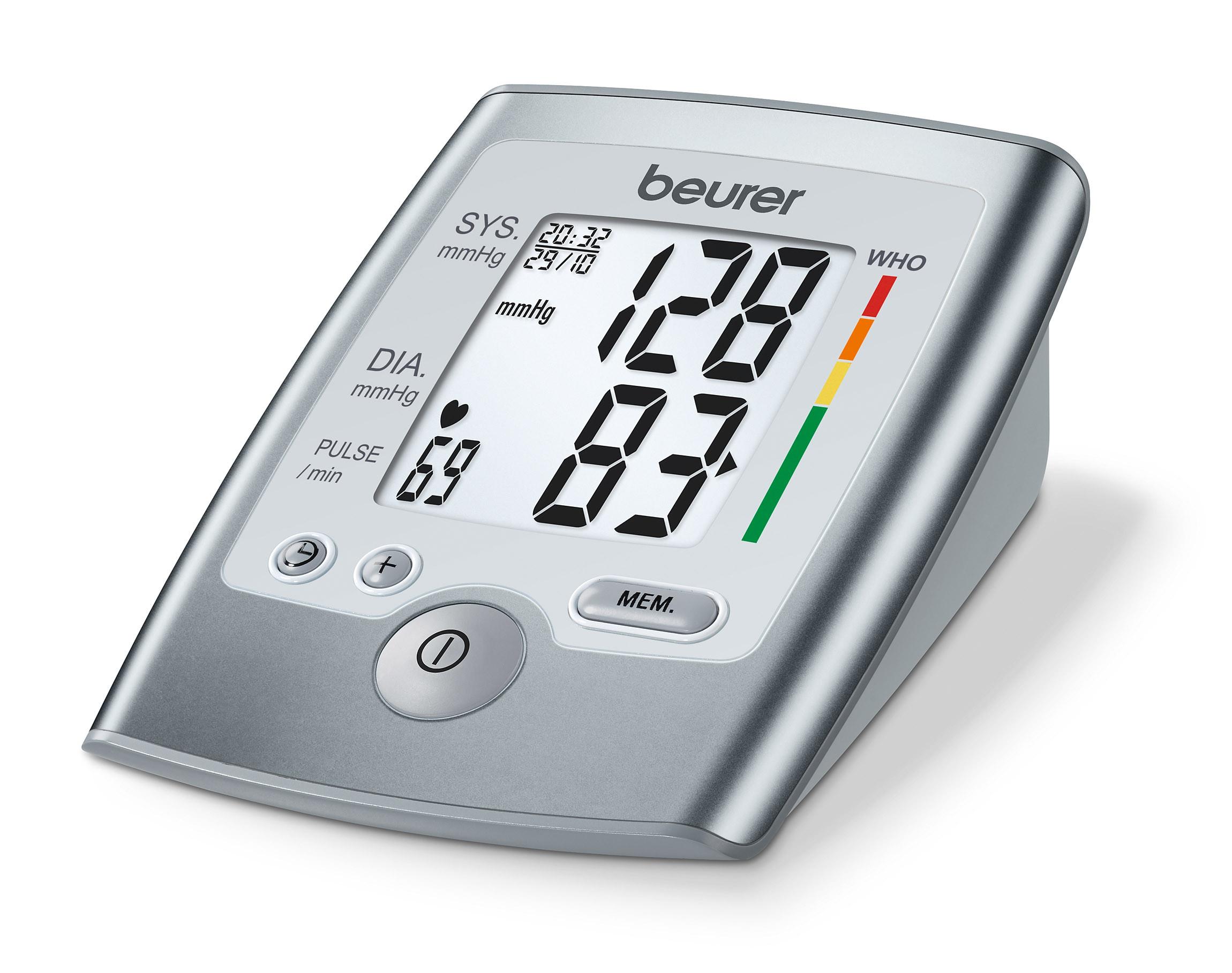 BM35 Blodtryksmåler til overarm, WHO indikator, stort letlæseligt display
