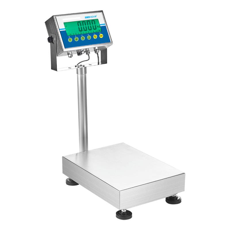 Vandafvisende vægt  Adam  GGS - IP67-klassificering.  Kapacitet: 8 kg til 35 kg Præcision: 0,2 g til 1 g
