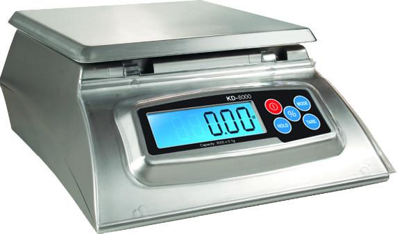 Køkkenvægt My Weigh KD-8000 Sølv (8000 gr. x 1 gr.)  ( Vejeplade 17,3 x 17,3 cm  )