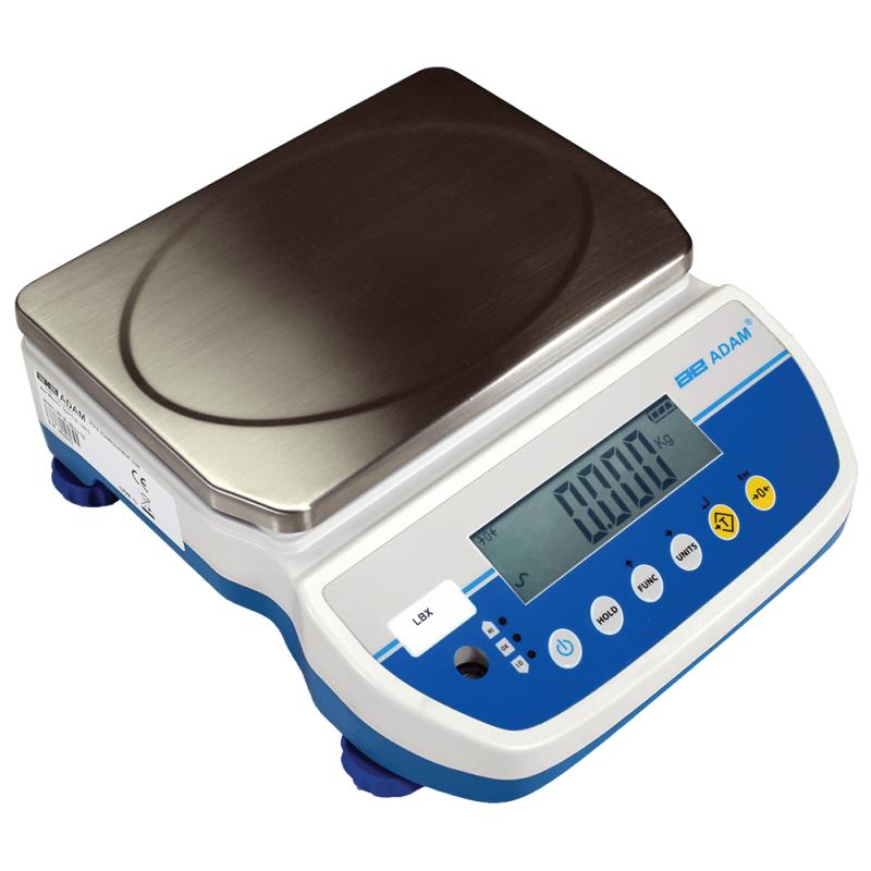 Tællevægt  Adam LBX . Kapacitet: 3 kg til 30 kg Præcision: 0,5 g til 5 g