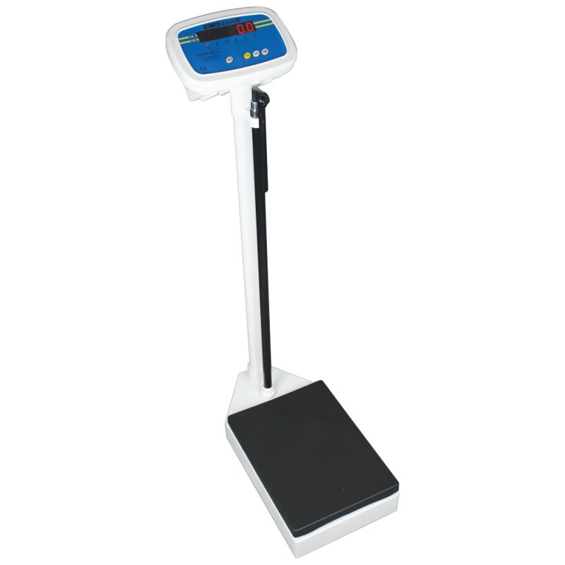 AE-Digital Personvægt MDW 250L (250 kgx100g). Vejeplade (375 x 275 x H. 940 mm)