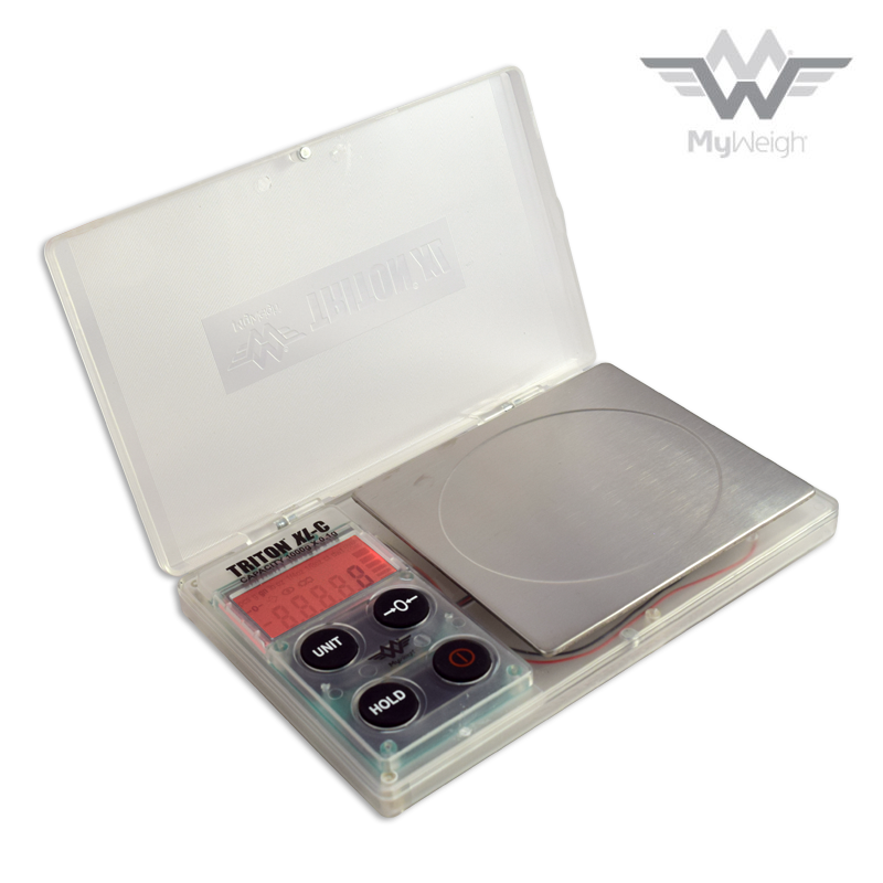 Lommevægt My Weigh Triton T2 XL-Clear 1000 (1000 gr. x 0,1 gr.) (Vejeplade: 100 x 115 mm)