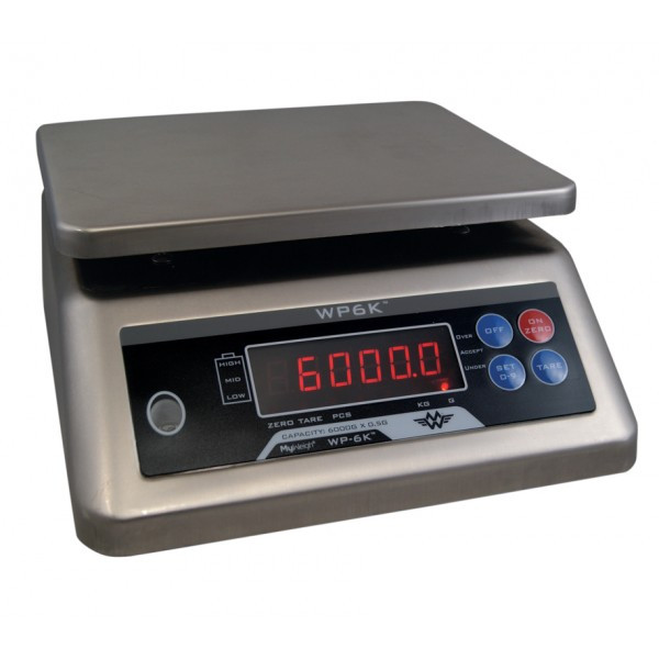 My Weigh WP6K Counting Scale (6000 x 0,5 g) Vejeplade (190x230 mm )