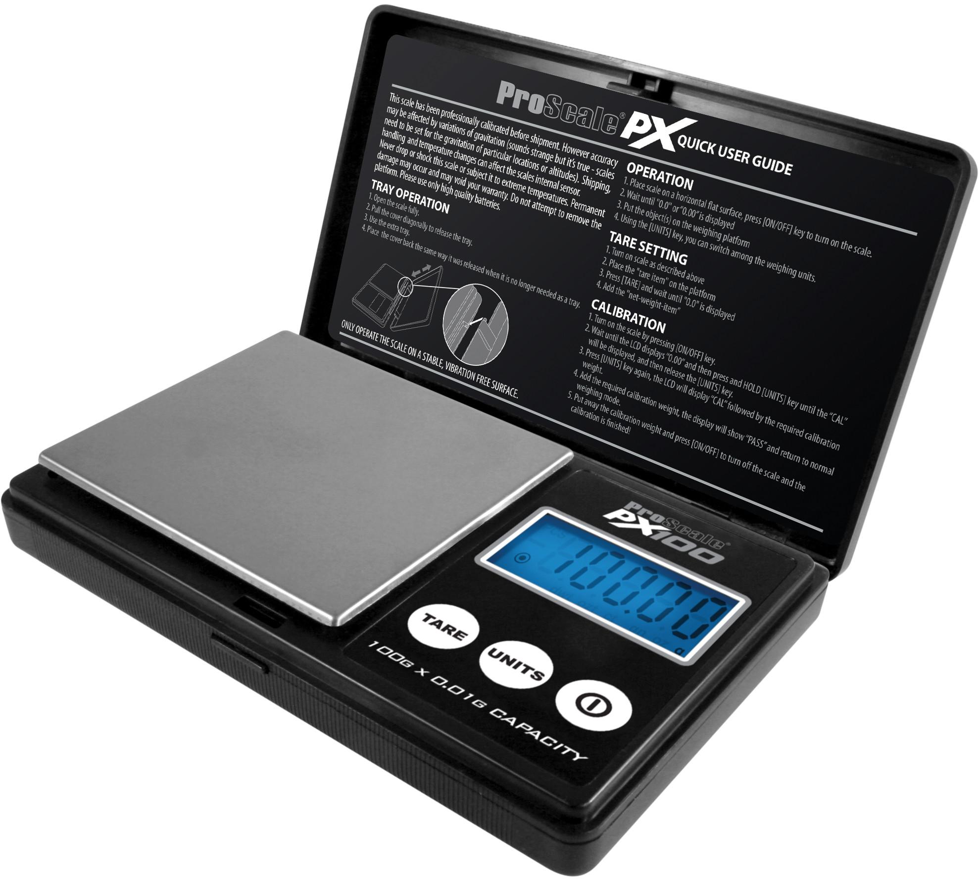 Lommevægt ProScale PX (100 x 0.01 gr.) (Vejeplade 76,8 x 67,3 mm)