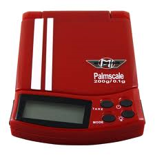 Lommevægt My Weigh PalmScale 5.0 (GTS red) (200 x 0.1 gr.) (Vejeplade 7 x 7 cm.)