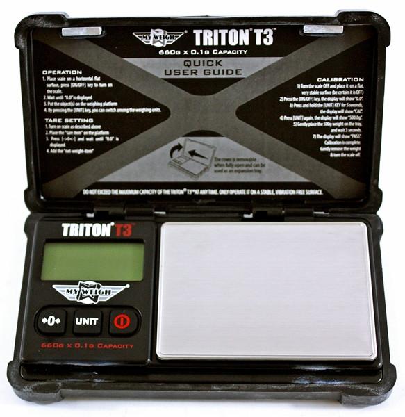 Lommevægt My Weigh Triton T3 (660 gr. x 0.1 gr.) (Vejeplade 57 x 79 mm)