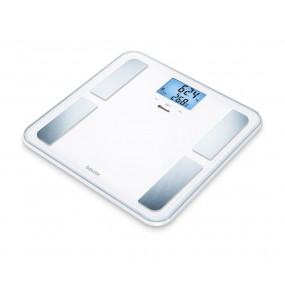 Kropsanalysevægt. Beurer BF850 med Bluetooth. Stor vejeplade. Hvid. (180 kg.x100 gr.)