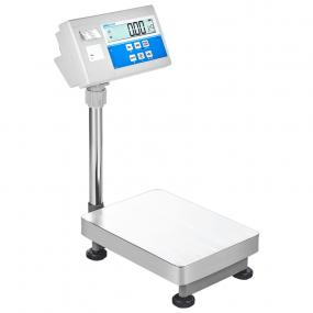 Gulvvægt Adam BKT  Kapacitet: 600 kg. Med indbygget labelprinter (Vejeplade: 600x800 mm)