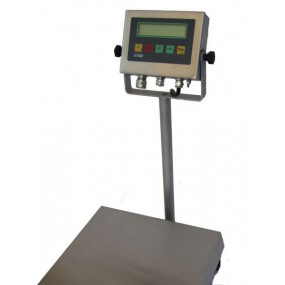 DAVI Defender Industrivægt rustfri inkl. IT1000 indikator m. 850 mm søjle (3 kg x 0,5 g)