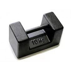 Kalibreringslod i støbejern.Standard Kapacitet 10 kg. Klasse M1