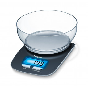 Køkkenvægt. Beurer KS 25. Kapacitet: 3 kg. Nøjagtighed: 1 g